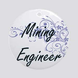 Mining Engineer Artistic Job Design Round Ornament