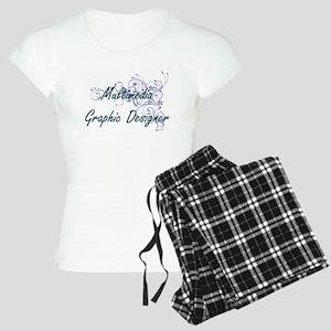Multimedia Graphic Designer Women's Light Pajamas