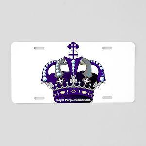Purple Royal Crown Aluminum License Plate