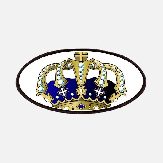 Blue & Gold Royal Crown Patch