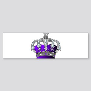 Silver & Purple Royal Crown Bumper Sticker