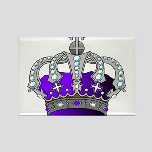 Silver & Purple Royal Crown Magnets