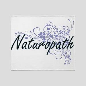 Naturopath Artistic Job Design with Throw Blanket
