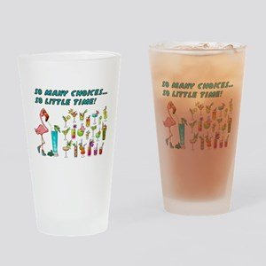 Flamingo Happy Hour Drinking Glass