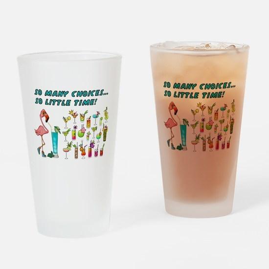 Flamingo Happy Hour Drinking Glass