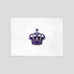 Purple Royal Crown 5'x7'Area Rug
