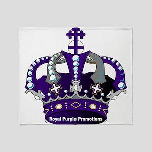 Purple Royal Crown Throw Blanket
