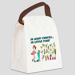 Flamingo Happy Hour Canvas Lunch Bag