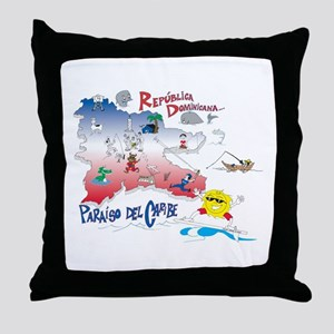 Quisqueya t-shirts Throw Pillow