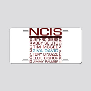 Red NCIS and Cast Aluminum License Plate