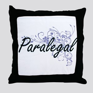 Paralegal Artistic Job Design with Fl Throw Pillow