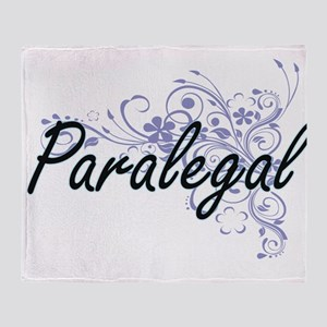 Paralegal Artistic Job Design with F Throw Blanket