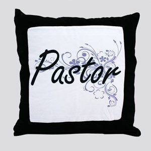Pastor Artistic Job Design with Flowe Throw Pillow