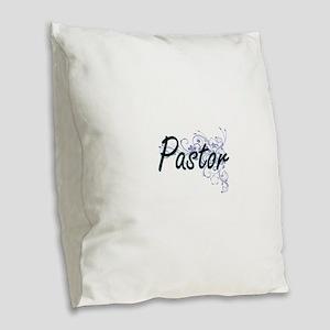 Pastor Artistic Job Design wit Burlap Throw Pillow