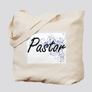 Pastor Artistic Job Design with Flowers Tote Bag