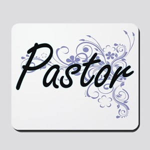 Pastor Artistic Job Design with Flowers Mousepad