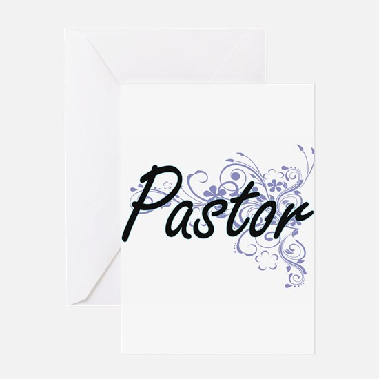 Pastor Artistic Job Design with Flo Greeting Cards