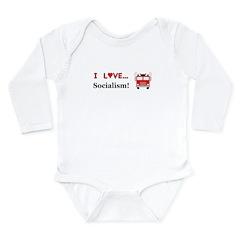 I Love Socialism Long Sleeve Infant Bodysuit