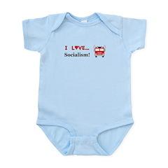 I Love Socialism Infant Bodysuit