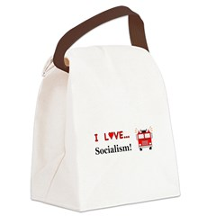 I Love Socialism Canvas Lunch Bag