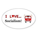 I Love Socialism Sticker (Oval 10 pk)