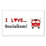 I Love Socialism Sticker (Rectangle 50 pk)