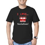 I Love Socialism Men's Fitted T-Shirt (dark)
