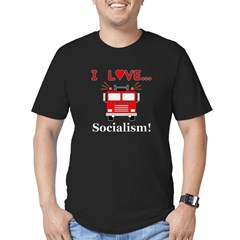 I Love Socialism Men's Fitted T-Shirt (dark)