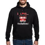 I Love Socialism Hoodie (dark)