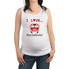 I Love Socialism Maternity Tank Top