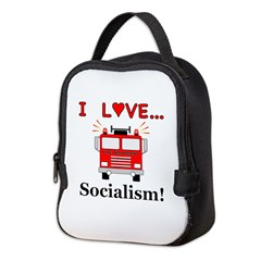 I Love Socialism Neoprene Lunch Bag
