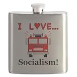 I Love Socialism Flask
