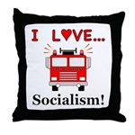 I Love Socialism Throw Pillow