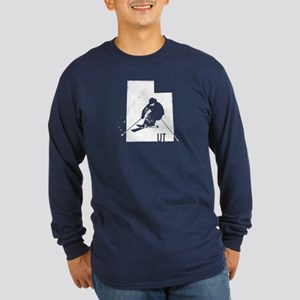 Ski Utah Long Sleeve Dark T-Shirt