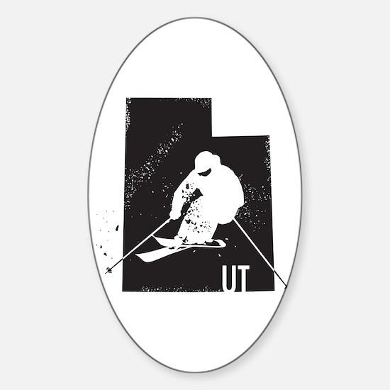 Ski Utah Sticker (Oval)
