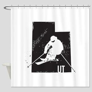 Ski Utah Shower Curtain