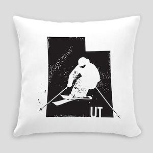 Ski Utah Everyday Pillow