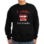 I Love Fire Trucks Sweatshirt (dark)