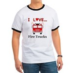 I Love Fire Trucks Ringer T