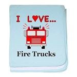 I Love Fire Trucks baby blanket