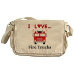 I Love Fire Trucks Messenger Bag