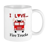 I Love Fire Trucks Mug