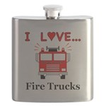 I Love Fire Trucks Flask
