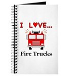 I Love Fire Trucks Journal
