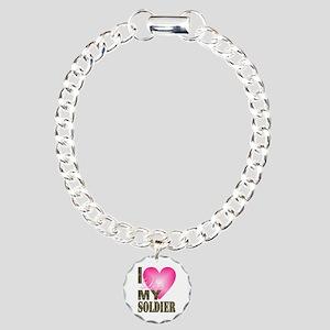 I love my soldier Charm Bracelet, One Charm