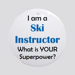 ski instructor Round Ornament
