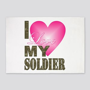I love my soldier 5'x7'Area Rug