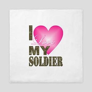 I love my soldier Queen Duvet