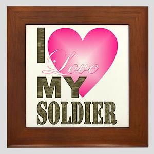 I love my soldier Framed Tile