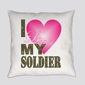 I love my soldier Everyday Pillow